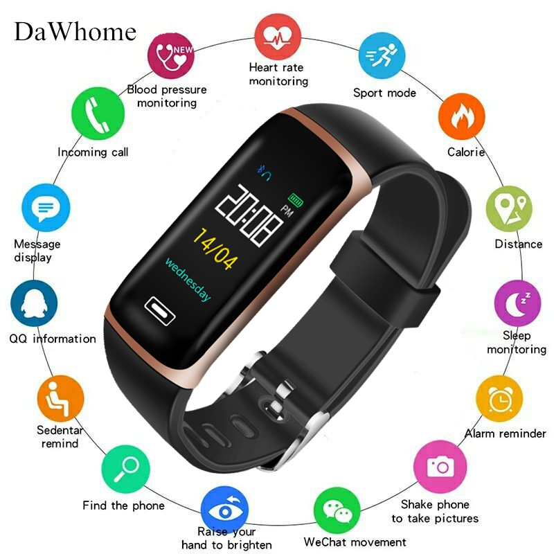 Men Women Sports Smart Watch With Heart Rate Monitor ECG Blood Pressure IP68 Fitness Tracker Wrisatband Smart Watch