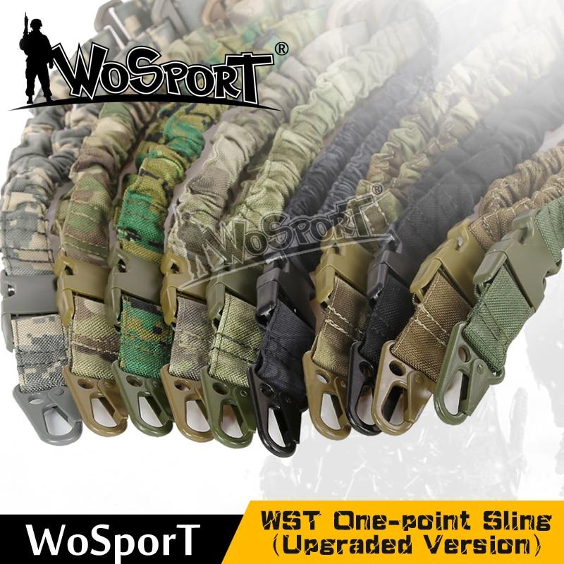 WOSPORT Tactical Jeden Punkt Sling Regulowany Sprzęt Wojskowy - Ubrania sportowe i akcesoria - Zdjęcie 1