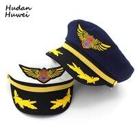 Cotton Navy Hat Cap for Men Women Children Fashion Flat Army Cap Sailor Hat Captain Uniform Cap Boys Girls Pilot Caps Adjustable