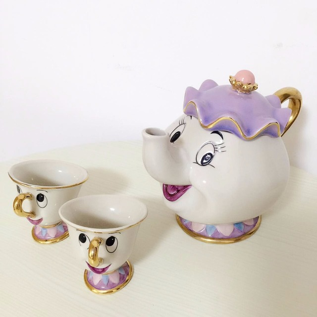 Beauty And The Beast Tea Set (3 pcs)