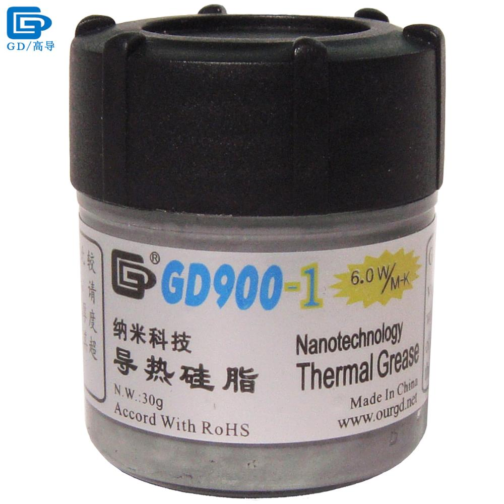 GD900-1 Thermal Conductive Grease Paste Silicone Plaster Heat Sink Compound Net Weight 30 Grams Containing Silver For CPU CN30 gd brand thermal conductive grease paste silicone plaster gd460 heat sink compound net weight 1000 grams silver for led cn1000