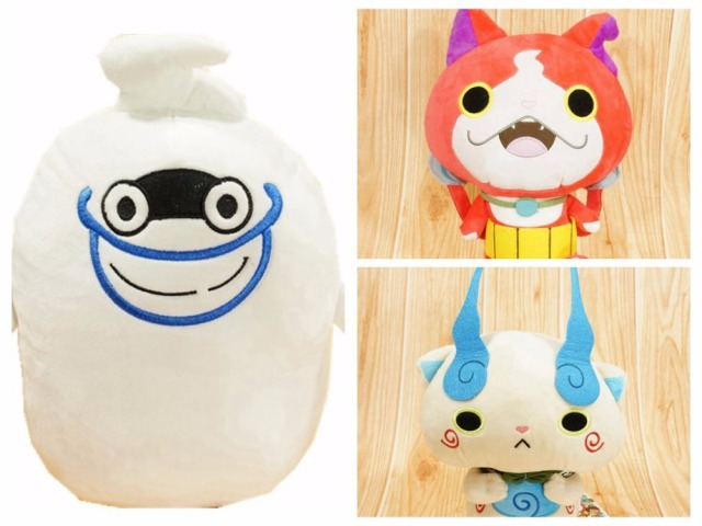 30 CM Anime Cartoon Yo-Kai Watch Whisper Jibanyan Komasan Plush Toys Soft Stuffed Dolls