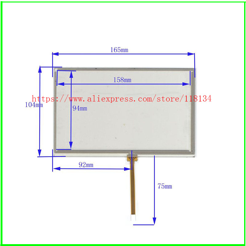 Free shipping 7inch touch screen/digitizer/touch panel 165*104MM for AT070TN82,<font><b>AT070TN84</b></font>,AT070TN83 image