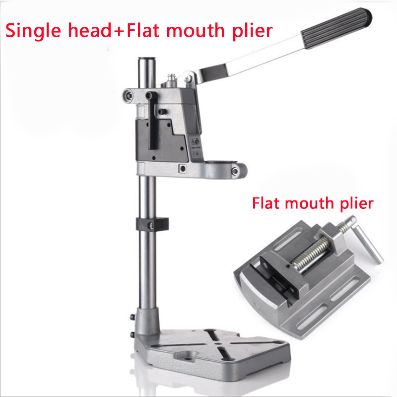 Aluminum Bench Drill Stand Single-head Electric Drill Base Frame Drill Holder Power Grinder Accessories For Woodwork New