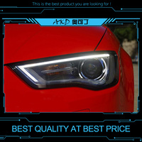 AKD tuning cars Headlight For Audi A3 2013 2016 Headlights LED DRL Running lights Bi Xenon Beam Fog lights angel eyes Auto level