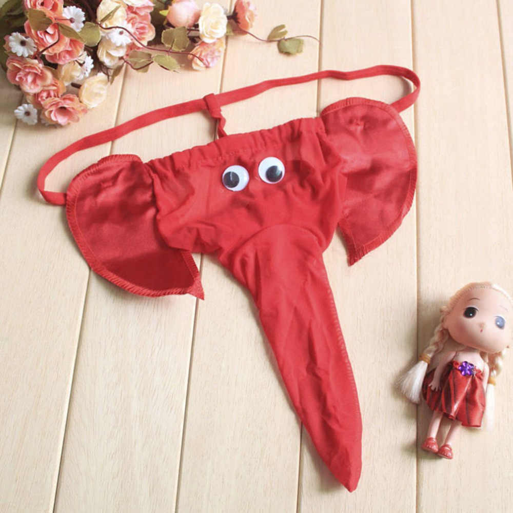 f77ad95bf7c2 ... Men Sexy Lingerie Elephant Underpants G String Homme Sexy Penis Pouch  Male T-back Jockstrap ...