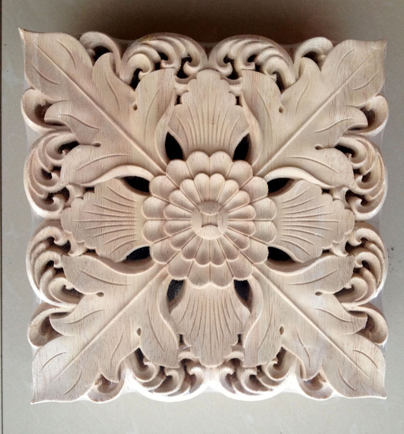 Aliexpress.com : Buy Dongyang wood carving fashion corners applique gate flower wood shavings ...