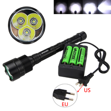 6000Lm 3x CREE XML T6 LED Trustfire Rechargeable Tactical Flashlight Torch +18650+Charger big promotion ultra bright 8000lm led flashlight xml t6 cree q5 led torch rechargeable waterproof 18650 charger box free gift