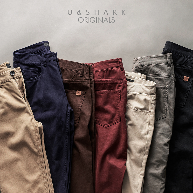U&SHARK 2018 Spring Summer Casual Pants Men Brand Clothing High Quality Work Pants Slim Fit Cotton Chinos Formal Trousers Male