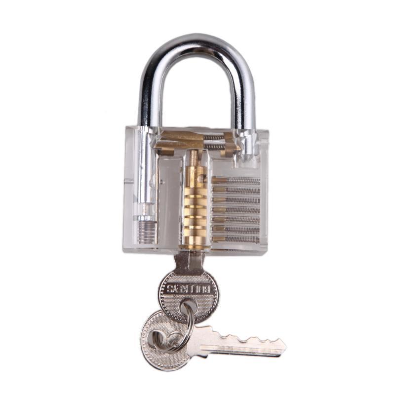 Professional Lock picks Set LockPicks Padlock Transparent Practice lock For Door With Key(China)