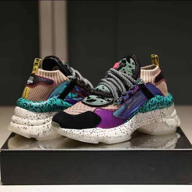 27e0e7caed40 ... High-Quality Women Sneakers Sport Shoes Walking Shoes Thick Bottom  Increased Sports Shoes 2018 Autumn ...