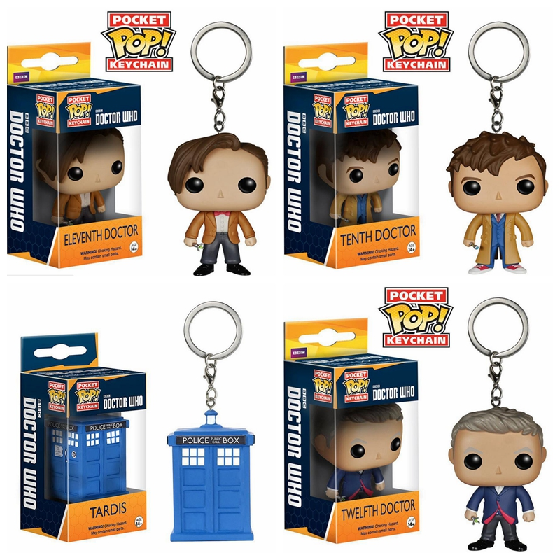 Funko POP Pocket Keychain Toy Doctor Who 11th/12th/123th Tardis Action Figures Toys For Children With Box