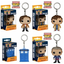 Funko POP Pocket Keychain Toy Doctor Who 11th/12th/123th Tardis Action Figures Toys for children wit