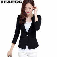TEAEGG Womens Blazers Long Sleeve Ladies Black Blazer Women 2019 Bleazer Mujer Spring Autumn Women Coats Casacos FemininosAL1106