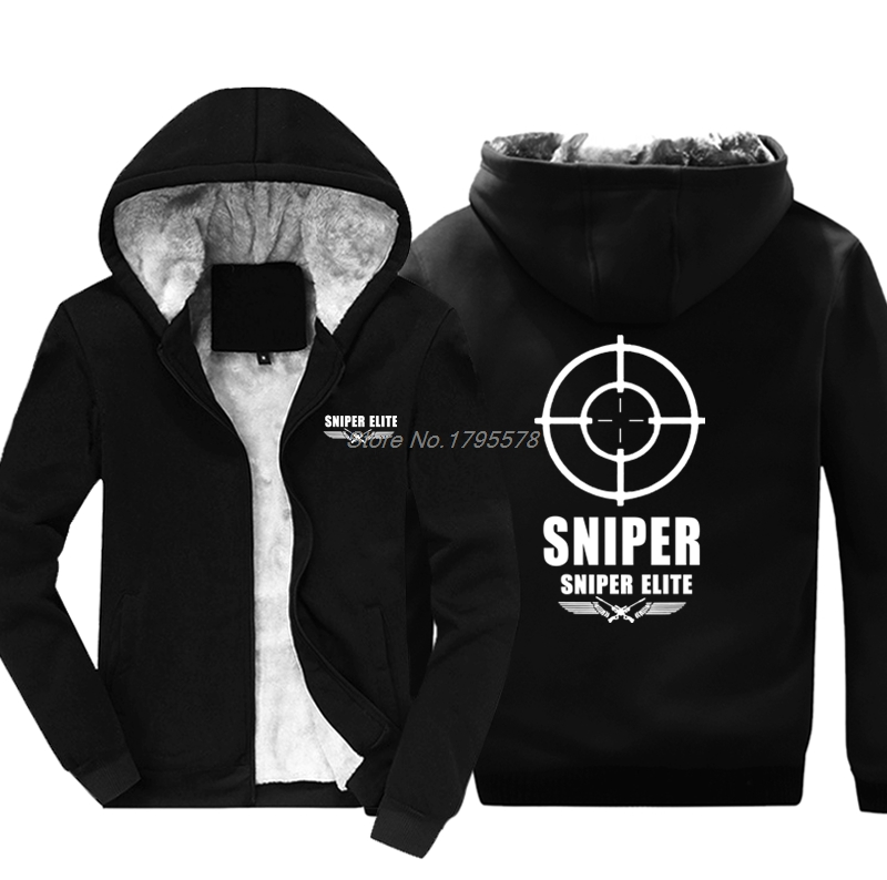 Fashion Hot Sweatshirt Mens Green Olive Sniper Army Military Snipers Army Hoodie Cotton Thicken Hoody Cool Jackets Tops