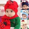 Outono Inverno Do Bebê Chapéus Cap Cachecol Twinset Beatles Algodão Chapéu Crianças Chapéu + Lenço Para O Menino Menina