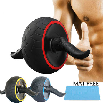 No Noise Abdominal Wheel Round AB Rollers for Core Trainer Waist Arm Strength Exercise Crossfit Press Gym Home Fitness Equipment