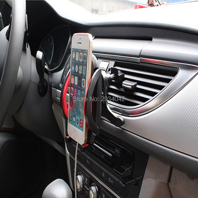 car styling Vehicle mounted mobile phone tuyere type bracket car ...