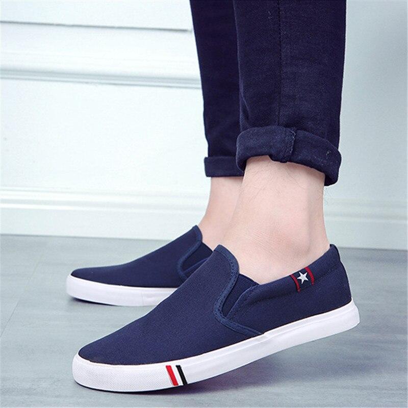 Vulcanize sapatos masculinos tênis de lona moda sólida amantes sapatos de borracha plana tênis casual masculino zapatillas hombre