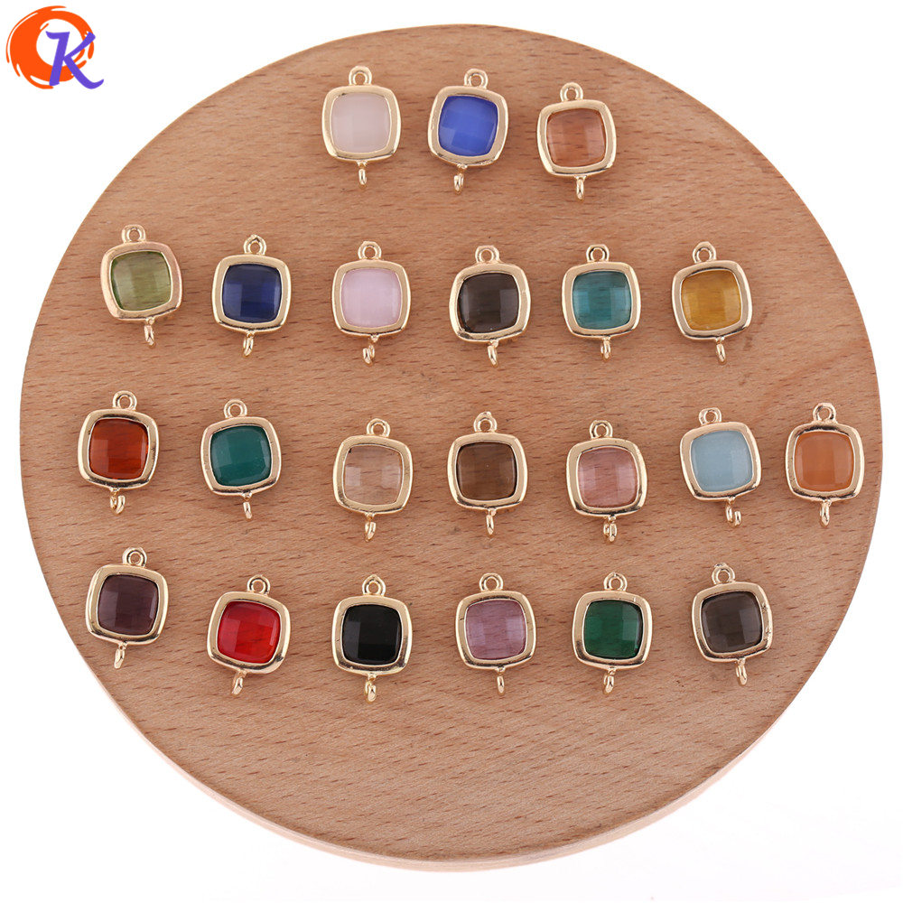 Cordial Design 50Pcs 10*15MM Jewelry Accessories/Crystal Connectors/Charms Jewelry/DIY Earring Making/Hand Made/Earring Findings