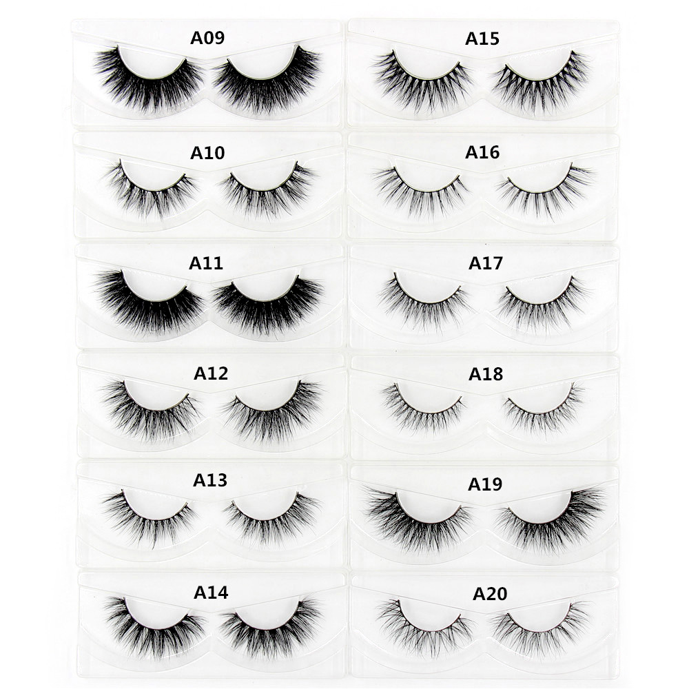 3D Mink řasa Messy Cross Silný Natural Fake Eye Lashes Profesionální make-up Bigeye Eye Lashes Handmade 1pair False Eyelash