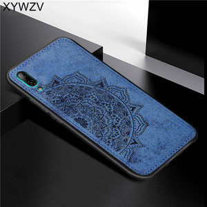 Image 4 - Huawei Y7 Pro 2019 Shockproof Soft TPU Silicone Cloth Texture Hard PC Phone Case For Huawei Y7 Pro 2019 Cover For Huawei Enjoy 9