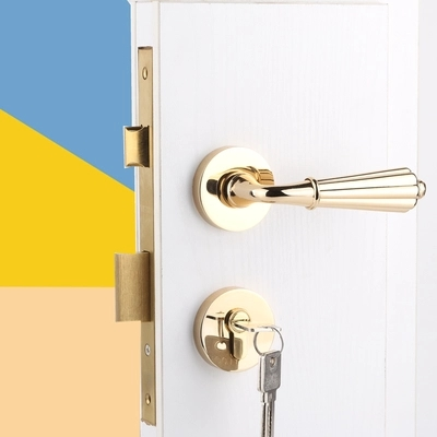 Modern fashion high quality pvd gold copper interior room door lock retro bronze black bedroom book room solid wooden door lock стоимость