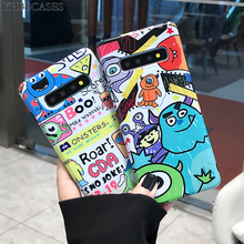 YHBBCASES Cartoon Phone Case For Samsung Note 10 Plus 8 9 Funny Lovely Monsters Soft IMD Cover Galaxy S10 S8 S9