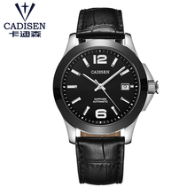 C1009 CADISEN stainless steel automatic mens watch Japanese Movt mechanical sapphire relogio masculino 5ATM