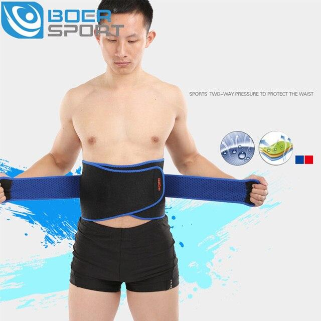 BOER Waist Support Men Adjustable Exercise Belts Slimming Belt Waist Trainer Magnetic Sports Protective Gear Bodybuilding Belts