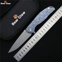 Ours griffe F95 Flipper couteau pliant D2 lame en alliage de Titane poignée camping chasse survivre poche cuisine fruits couteaux EDC outils