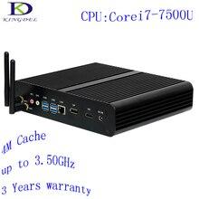 2017 Большой продвижение Core i7 7500U седьмого Поколения Кабы Озеро Mini PC Box PC Windows 10 Dwsktop PC 4 К HD HTPC 300 М Wifi Безвентиляторный Компьютер DP