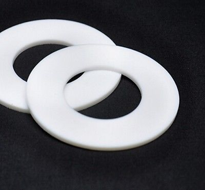 LOT5 68x32x3mm Telfon PTFE Flange Flat Gasket Washer Spacer 3mm Thickness