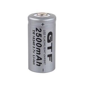 Image 4 - 20 pièces CR123A 3.7V 2500mah 16340 batterie Li ion Batteries rechargeables lampe de poche LED torche voiture électrique jouet batterie