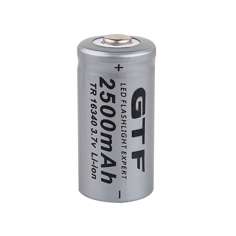 GTF 3.7V 2500mah 16340 Battery CR123A Li-ion Rechargeable Batteries LED Flashlight Torch Electric Car Toy Battery