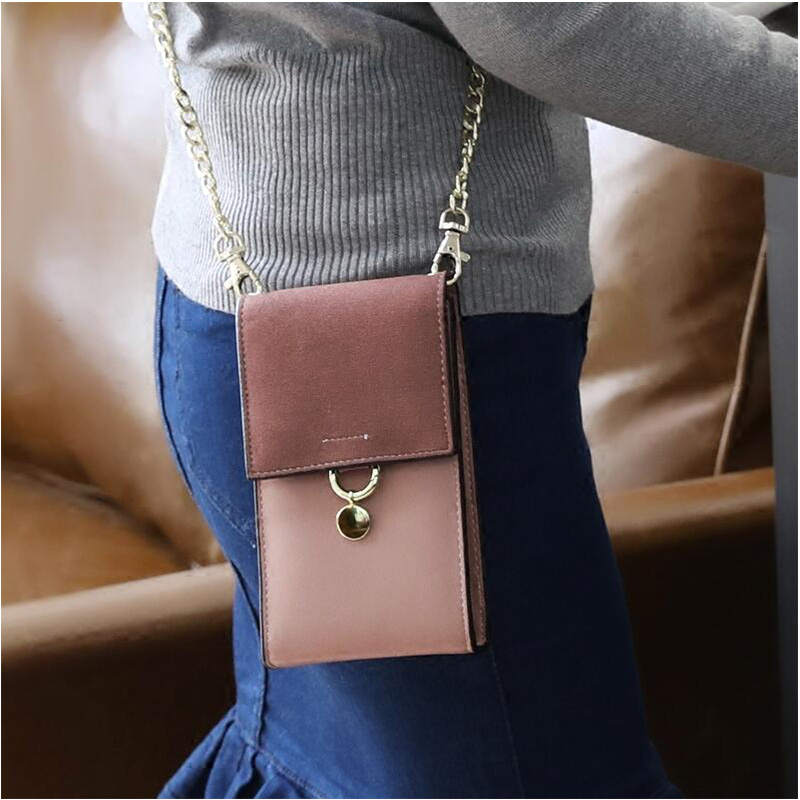 Women Mini Messenger Bag For Girls Flap Chains Shoulder Bags Mobile phone package Small Women bag stylish striped and metallic chains design shoulder bag for women