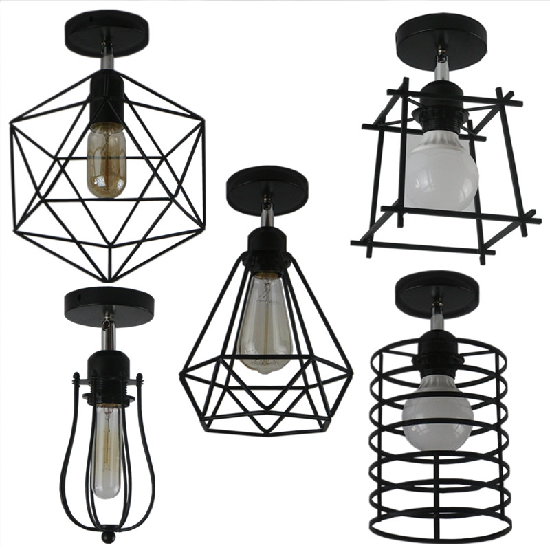 Retro indoor lighting Vintage ceiling light LED lights more kinds iron cage lampshade warehouse style light fixture retro indoor lighting vintage pendant light led lights 24 kinds iron cage lampshade warehouse style light fixture