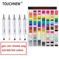 TOUCHNEW Art Markers 30 40 60 80 168 Colors Artist Dual Headed Marker Set Manga School