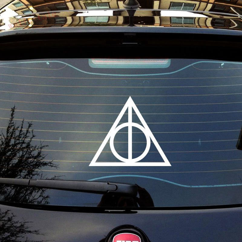 Harry potter deathly hallows vinyl car window decals stickers pick your size in wall stickers from home garden on aliexpress com alibaba group