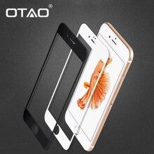 Черный Белый Полное Покрытие Закаленное Стекло Защитная Пленка Для Apple iPhone 6 6 S 2.5D 4.7 дюймов 0.33 мм 9 H нуля