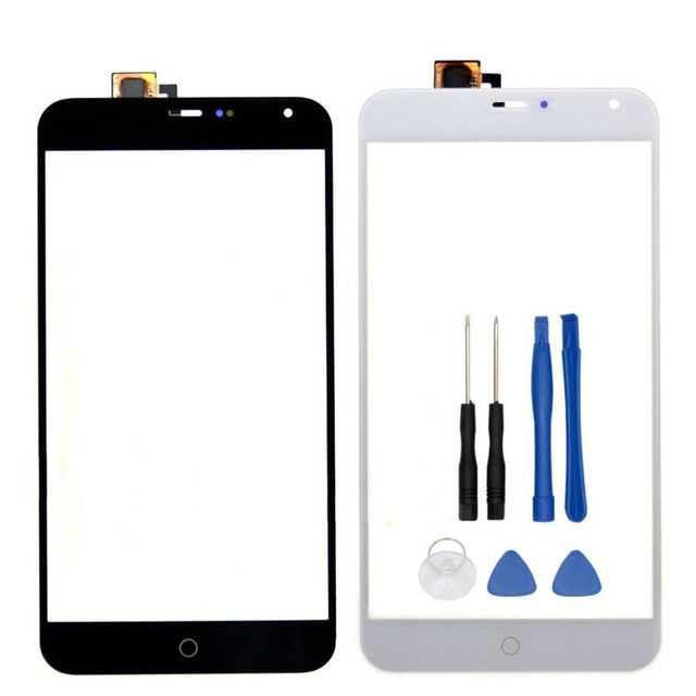5.5 inch Touchscreen Sensor For MEIZU MX4 Touch Screen Digitizer Front Glass Len With Tools, Black/White