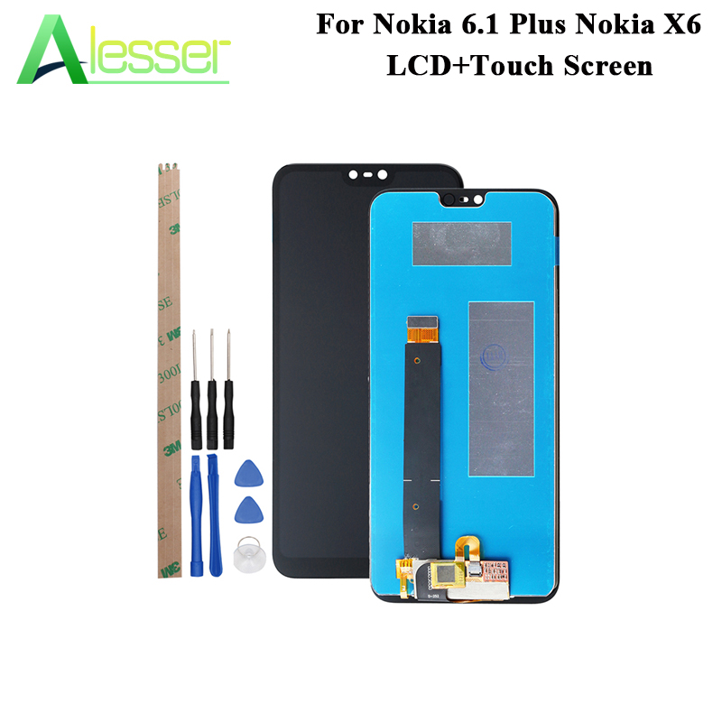 Alesser For Nokia 6.1 Plus Nokia X6 LCD Display And Touch Screen Assembly For Nokia 6.1 Plus Nokia X6 Phone With Tools 5.8Alesser For Nokia 6.1 Plus Nokia X6 LCD Display And Touch Screen Assembly For Nokia 6.1 Plus Nokia X6 Phone With Tools 5.8