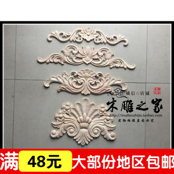 Dongyang woodcarving cross European furniture decoration cabinet decals floral  bed real door Shaoxin