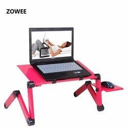 Mesa portátil ajustable para ordenador portátil soporte de mesa sofá cama bandeja ordenador portátil mesa de cama