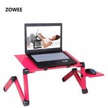 Mesa portátil ajustável do portátil do sofá do colo da mesa do computador do caderno da bandeja da cama da bandeja