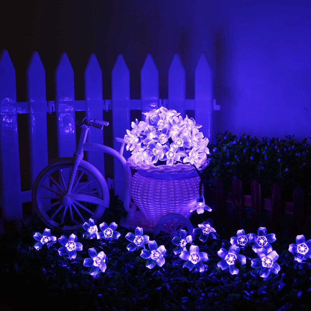 21Ft Solar Power Blossom String Lights Outdoor For Christmas Party Waterproof