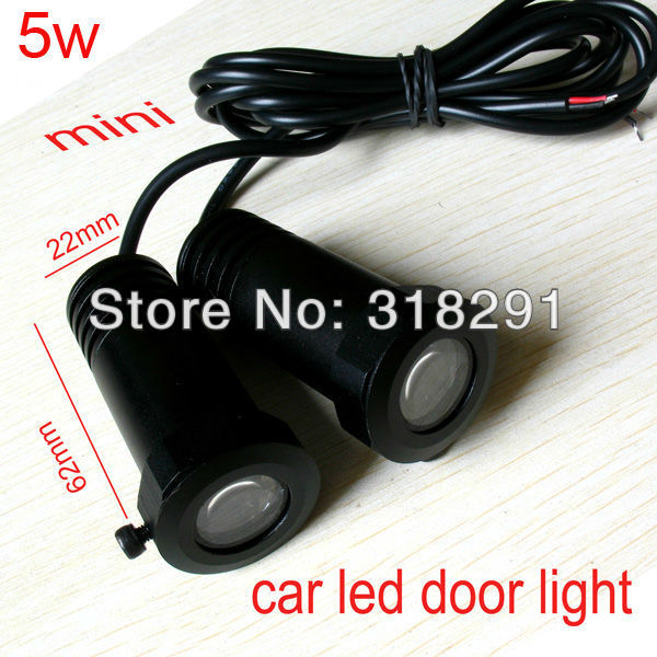 mini size car led door light for Toyota vw honda ford nissan audi BMW buick  led logo  projector Ghost Shadow 3d light  IP65
