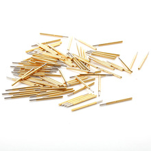 100pcs P75-J1 Spring Test Probe Pogo Pin 1.3mm Round Head Gold Plated  Dia 0.74mm Length 16.5mm Thimble for Electrical Testing