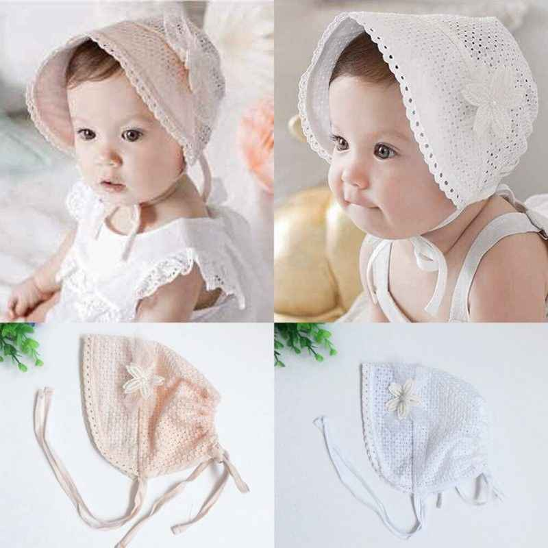 76f0a784a7e ... Spring Summer Baby Cap Sweet Cute Princess Hollow Out Baby Girls Hat  Lace-up Beanie