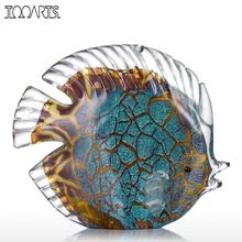 Tooarts Colorful Spotted Tropical Fish Glass Sculpture Fish Sculpture Modern Art Favor Gift Artwork Home Decoration